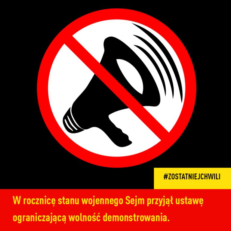 Sejm przyjął ustawę ograniczającą wolność demonstrowania