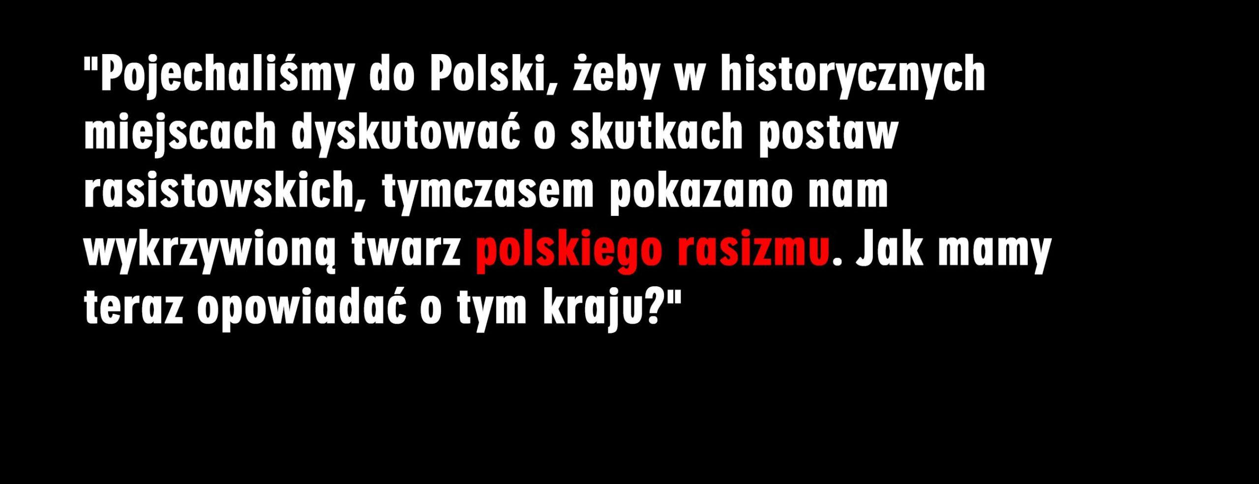 Rasizm nasz powszedni – relacja z pewnej wycieczki do Polski
