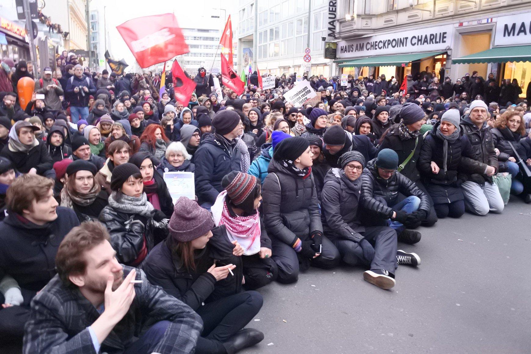 Blokada Marszu Kobiet, Berlin 17.2.2018