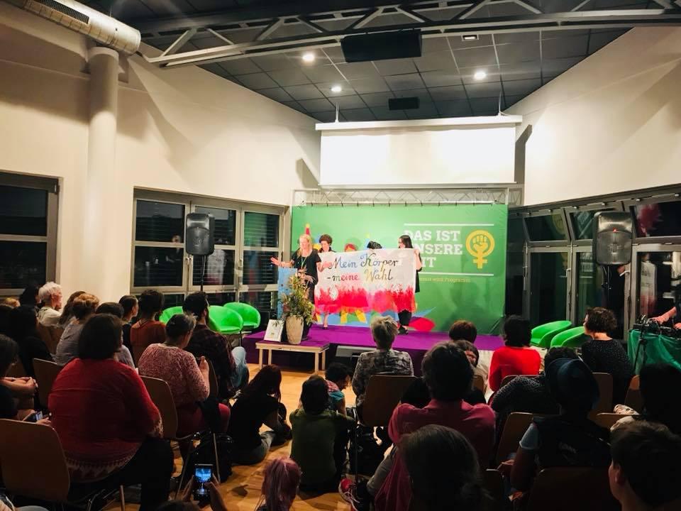 Green Pussyhat Preis für Dziewuchy Berlin (Leipzig, 7.9.2018)
