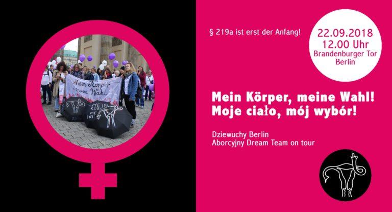 """Solidarität mit deutschen Frauen """"219a ist erst der Anfang!"""""""