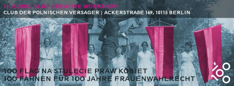 Creative Workshops / Create your own flag for March of 100 Flags in Warsaw