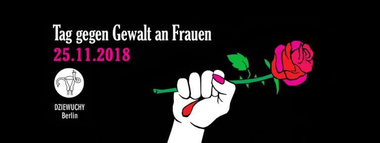 Demo: Międzynarodowy Dzień przeciw Przemocy wobec Kobiet / Tag gegen Gewalt an Frauen / 25.11.2018