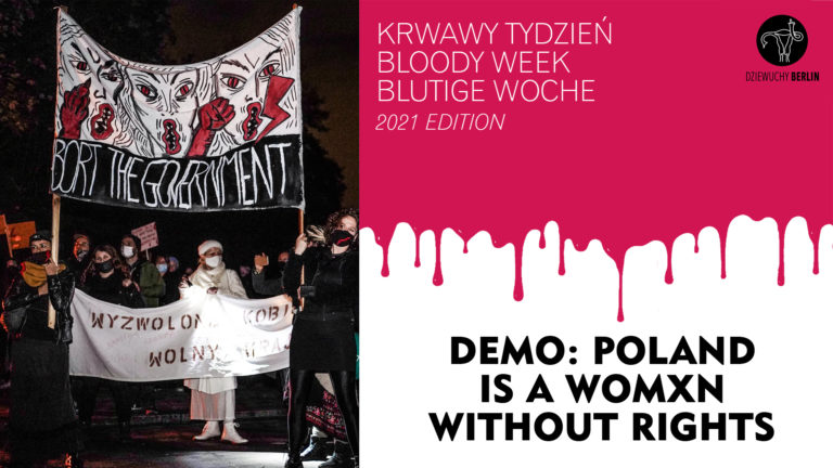 28.1.2021 Bloody Week | 2021 edition | Demo: in Solidarity with Polish Women