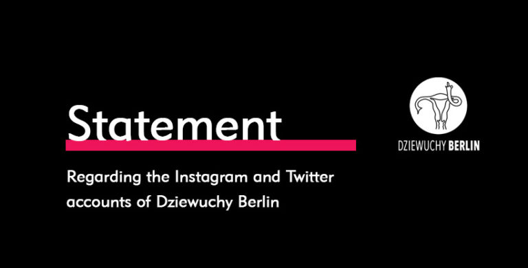 Oświadczenie / Stellungnahme / Statement