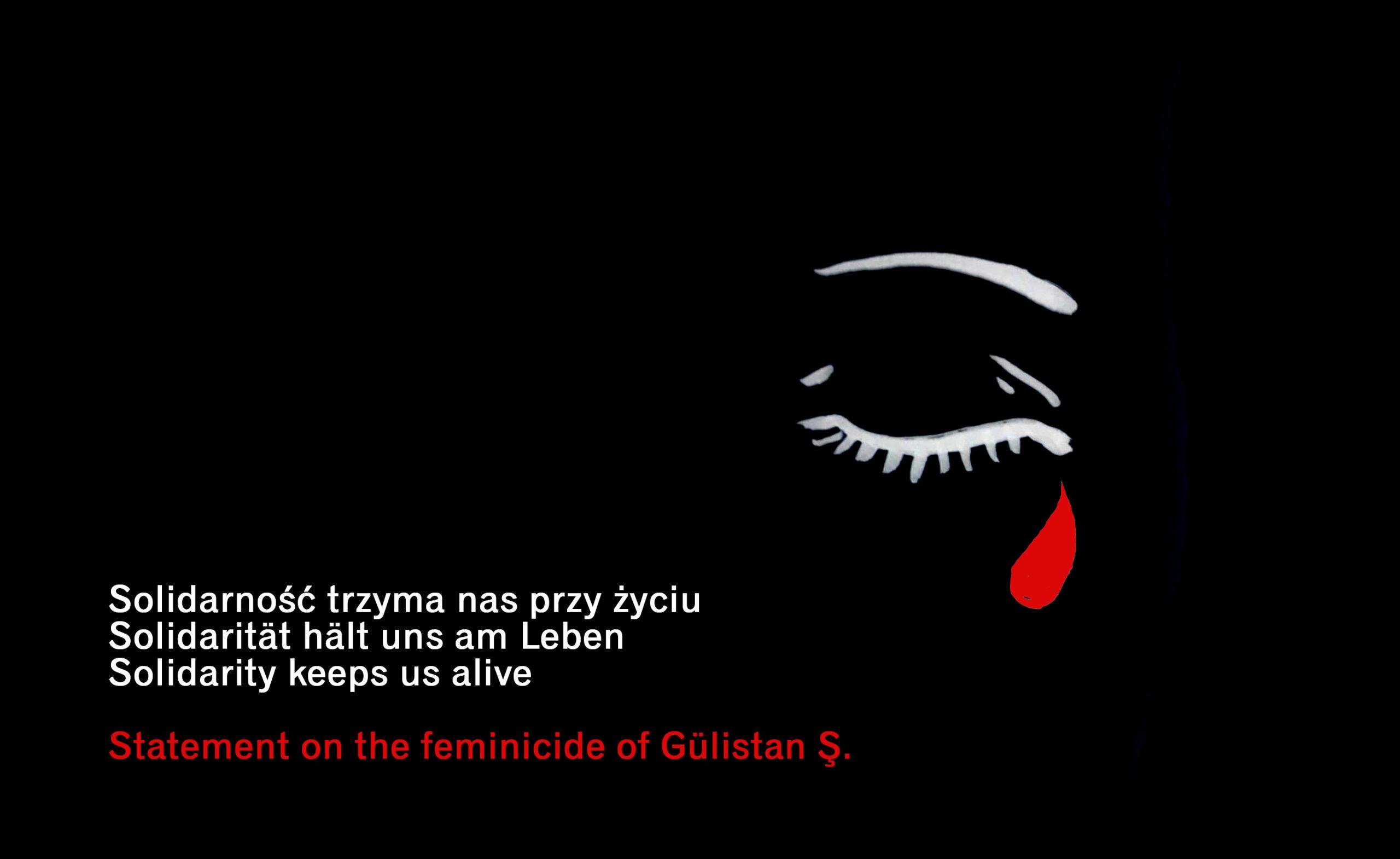 Statement on the feminicide of Gülistan Ş.