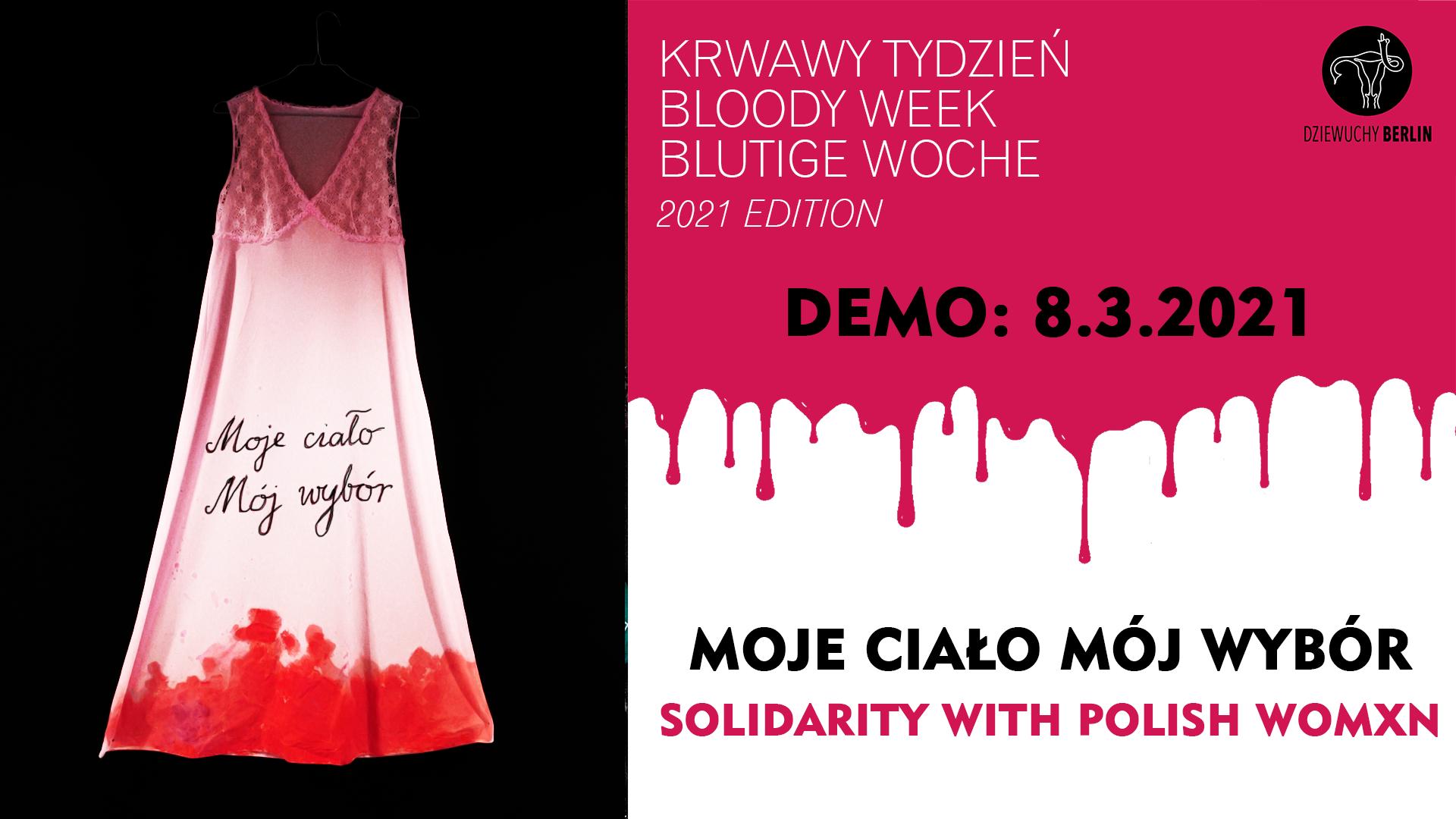 8.3.2021 | DEMO: Wir sind Widerstand! Solidarity with Polish Women