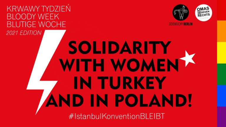 31.3.2021 Kundgebung: In Solidarity with Women in Turkey and in Poland