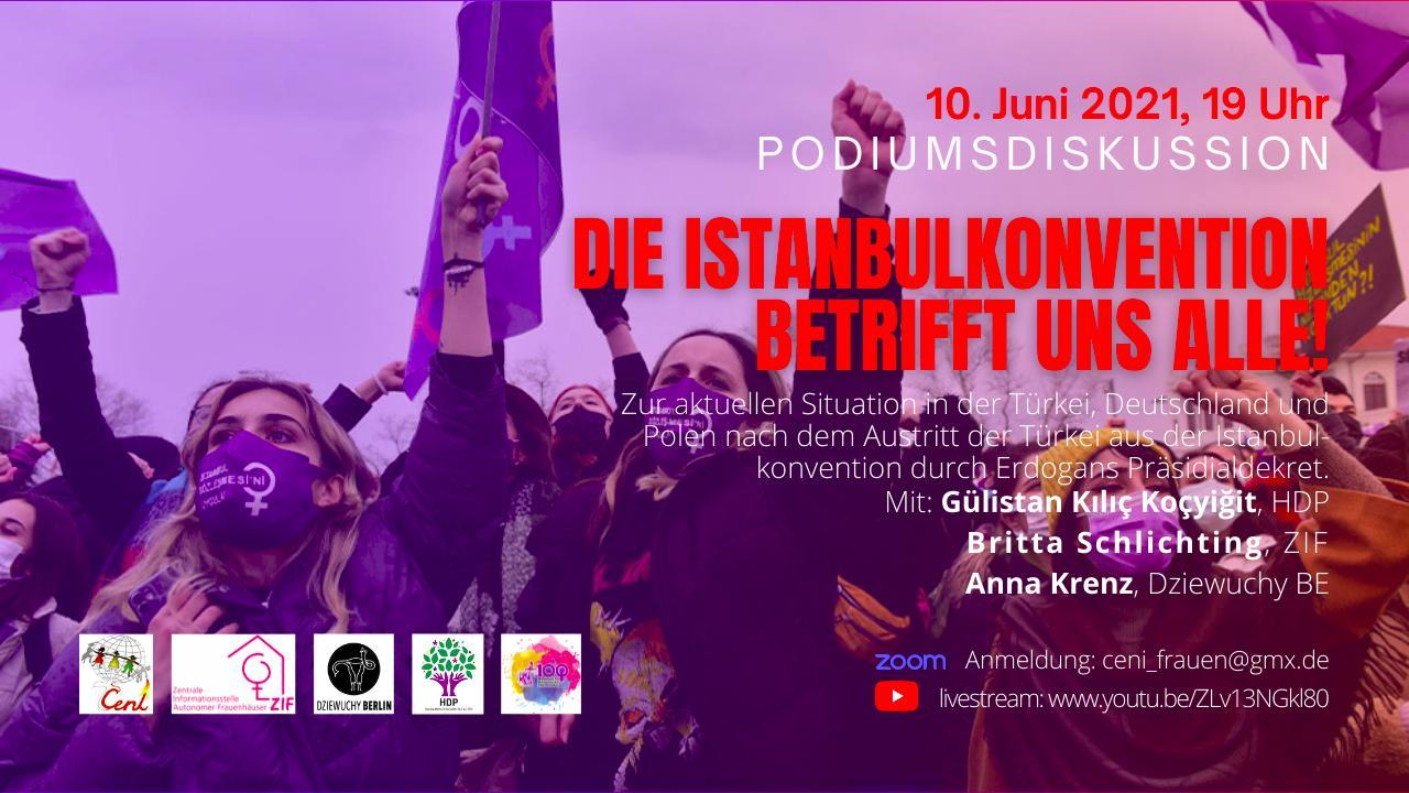 10.6.2021 Paneldiskussion: DIE ISTANBULKONVENTION BETRIFFT UNS ALLE!