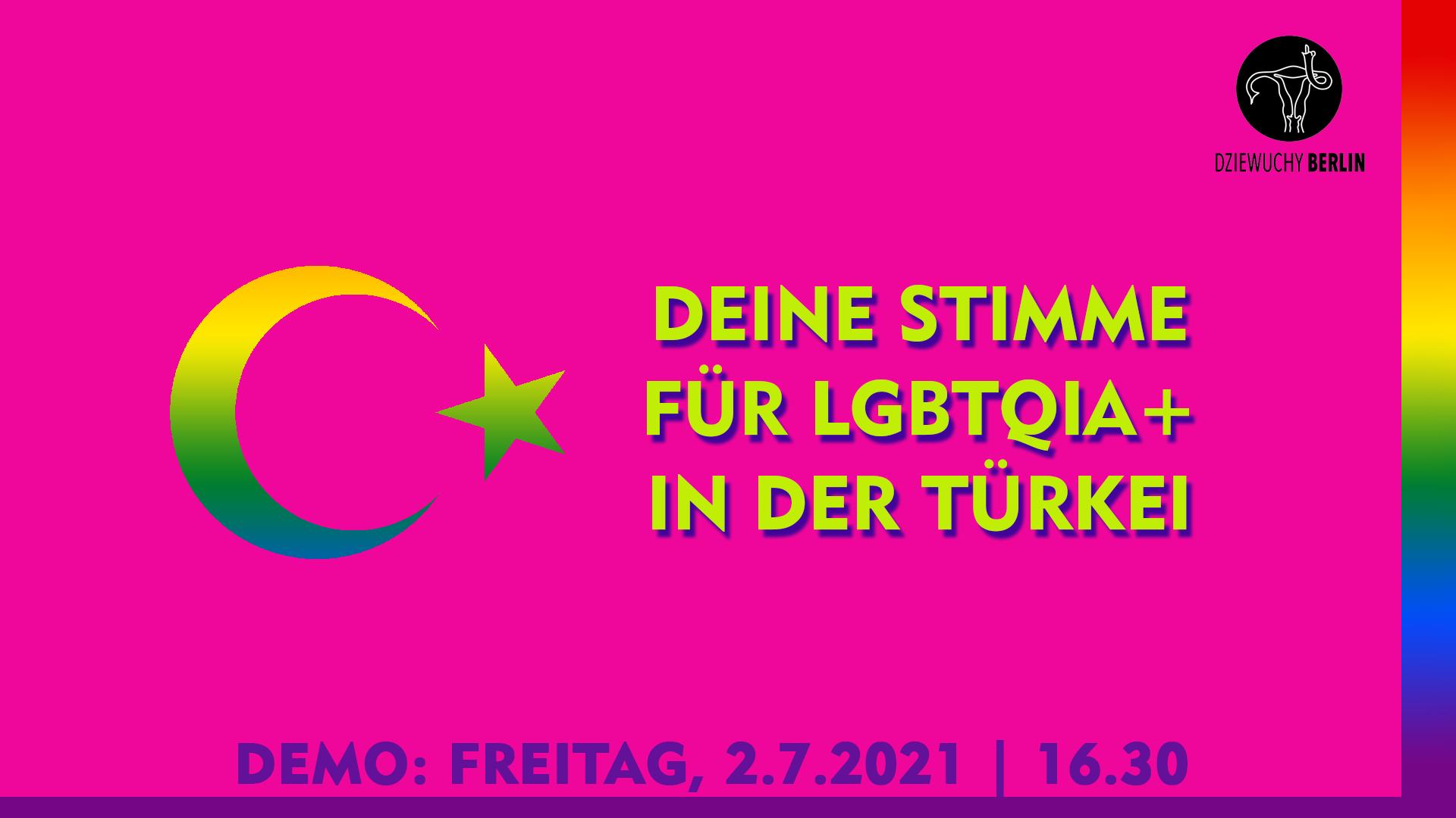2.7.2021 DEMO: Deine Stimme für LGBTQIA+