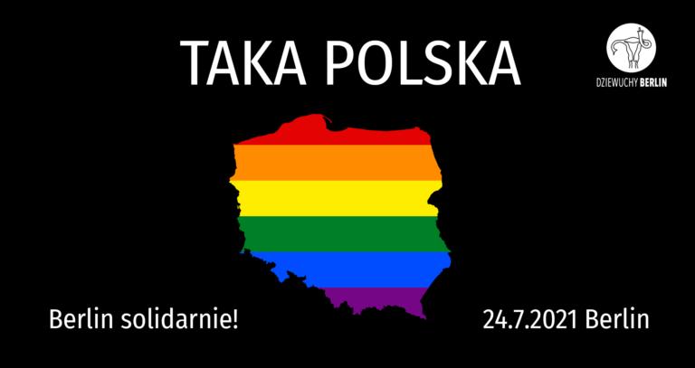24.7.2021 Polish Block on CSD | in solidarity!