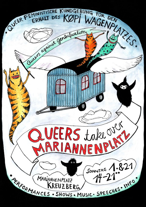 1.08.2021 See you at Queers take over Mariannenplatz
